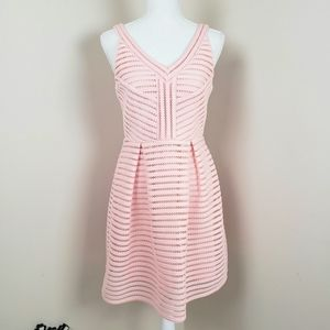 Cals pink midi fit and flare dress